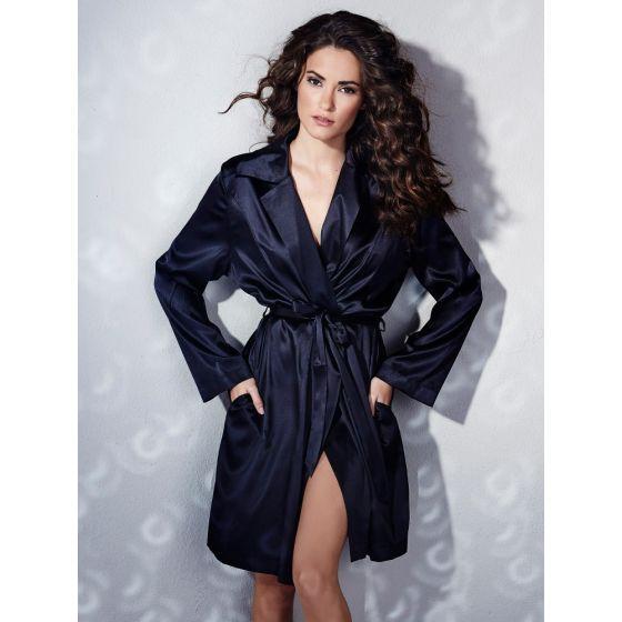 Kimono aus Stretchseide schwarz Sloane Street exclusiv von Eva B. Bitzer
