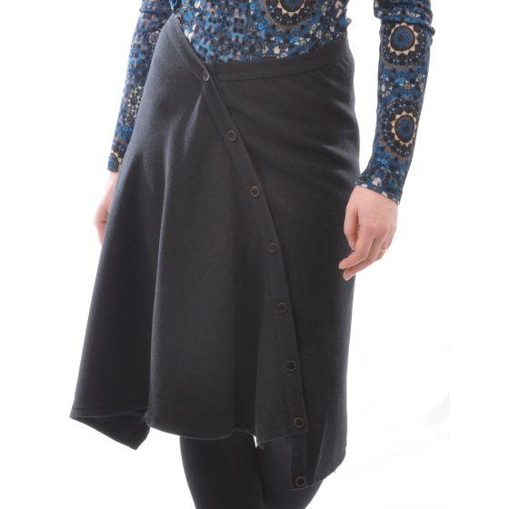 Seide Wolle Rock schwarz von Alkena - das Shirt ist NICHT im Lieferumfang enthalten