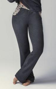 Kuschelige Baumwoll-Loungehose Casual grau mit beige von Gattina