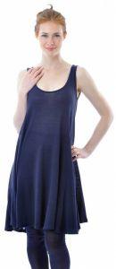 Bourette-Seide Glockenkleid marine-blau von Alkena