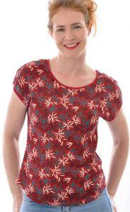 Bourette-Seide T-Shirt rot-bunt von Alkena