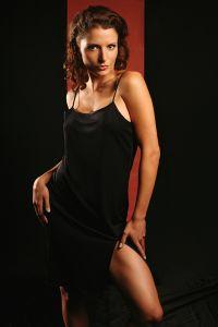 Unterkleid Seide Jersey kurz Gattina schwarz