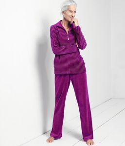 Nicki Hausanzug Sporty Stripes fuchsia von Triumph