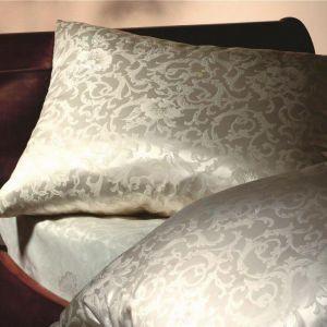 Seidenbettwäsche Katharina Champagner Blumen- Jacquard von Cellini Design