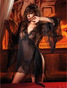 Seiden-Kimono Rand schwarz von RCrescentini