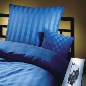 Kissenbezug Seidenflanell Streifen Royalblau von Cellini Design