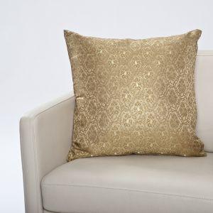 Seiden- Brokat Zierkissen Lakshmi gold-gold 50x50cm (Füllung nicht enthalten)
