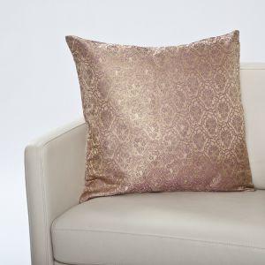 Seiden- Brokat Zierkissen Lakshmi gold-lavendel 50x50cm (Füllung nicht enthalten)