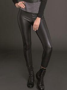 Lederlook Leggings schwarz elastisch und glänzend von Artimaglia
