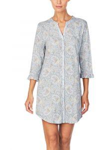 Sleepshirt Baumwolle Viscose Paisley hellblau Lauren by Ralph Lauren Sleepwear für Damen