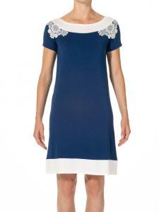 Kurzarm Nachtkleid Camilla No. 2 königsblau aus Modal von Imec