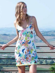 Seidenneglige Papillon weiß bunt von Chiara Fiorini