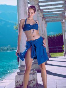 Pareo Chaine blau von Nicole Olivier - der Bikini ist nicht im Lieferumfang enthalten