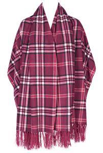 Fleece Poncho warm rot von Triumph