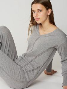 Kaschmir Seide Pullover Softwear grau von Maison Lejaby