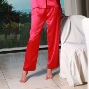 Damen Pyjama- Hose aus Seide SEDUZIONE DI SETA von Gattina aus Seidensatin bordeaux
