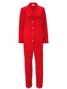 Pyjama Klassik Seide Satin rot Eva B. Bitzer
