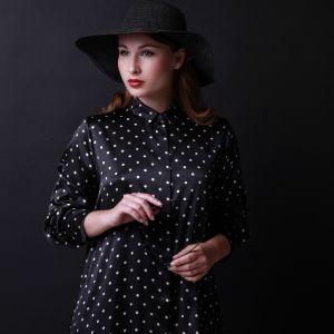 Damen Pyjama Oberteil schwarz-gold Mio Cuore von Gattina