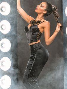 Satin Hose Michonne schwarz von RCrescentini Black Mirror - das Bustier ist nicht im Lieferumfang enthalten