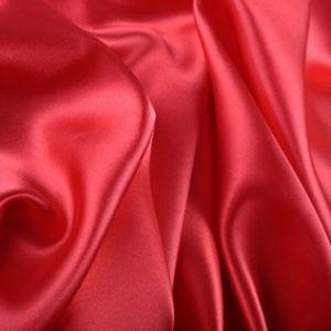 Rote Seidenbettwäsche Mauritius Karminrot von Cellini