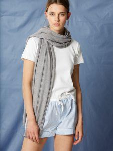Kaschmir Seide Schal Softwear grau von Maison Lejaby
