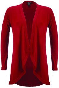 Merinowolle-Seide Cardigan Strickjacke in rot von Artimaglia