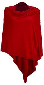 Merinowolle-Seide Schal-Tuch Stola in rot von Artimaglia