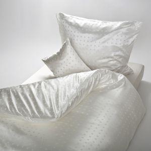 Seide-Modal Bettwäsche Kleiner Würfel Natur von Seidenweberei Plauen