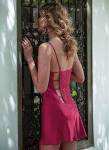 Seidennachthemd Soie Fantasie von Marjolaine in pfingstrosen-rosa