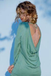 Seide-Baumwolle Pullover Acquise von Marjolaine (das Negligé ist nicht im Lieferumfang enthalten)