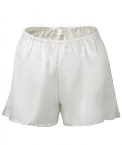 Seide Shorts Satin + Lace elfenbein weiß von Eva B. Bitzer