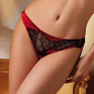 Seiden-String Quarzo rot/schwarz von Cotton Club