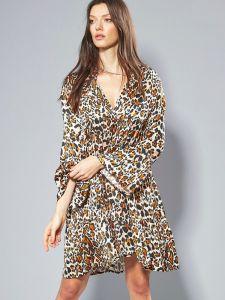 100% Seide Tunika Kleid Leonissima Leo-Print von Eva B. Bitzer