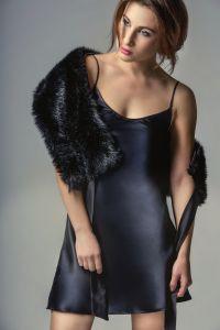 Seidenunterkleid Seduzione di Seta von Gattina schwarz