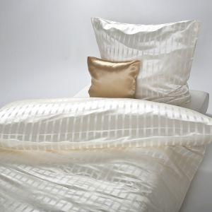 Seide-Viscose Bettwäsche Lima Natur von Plauener Seidenweberei (Zierkissen Mauritius Gold ist separat erhältlich)