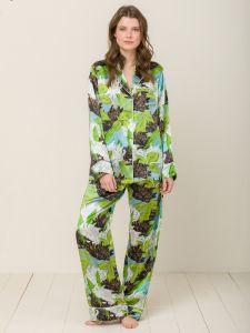 100% Seide Schlafanzug Elisabetha in VERONA GARDEN von Radice