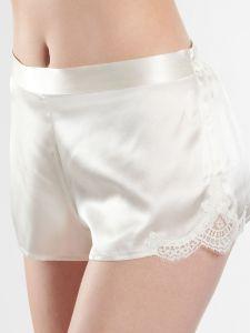 100% Seide Shorts Soie d´Amour perlmutt naturweiß von Aubade