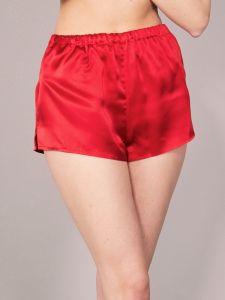 100% Seide Shorts Satin rot Basic Kollektion Eva B. Bitzer
