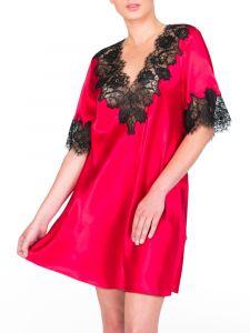 Seiden-Sleepshirt St. Elm rot-schwarz von Gattina