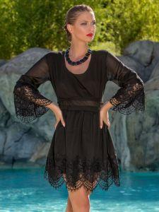 Sommerkleid Black Lace von Cotton Club Mare schwarz