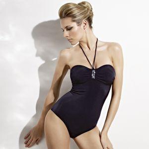Triumph Badeanzug High Fashion schwarz mit Swarovski-Schmuckelement