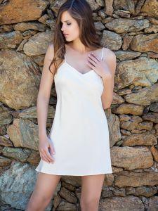 Seiden- Unterkleid Oda naturel von Marjolaine
