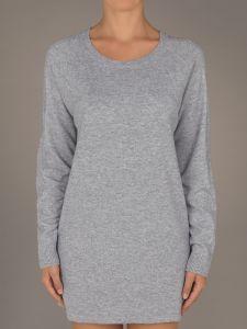 Wolle Kaschmir Lang Pullover Mandy kiesel-grau Suggest by Pain de Sucre