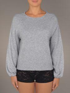 Wolle Kaschmir Kapuzen Pullover Aenor grau Suggest by Pain de Sucre - der Slip ist nicht im Lieferumfang enthalten